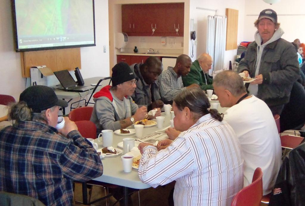 participants in Unison's Streets to Homes Community Kitchen