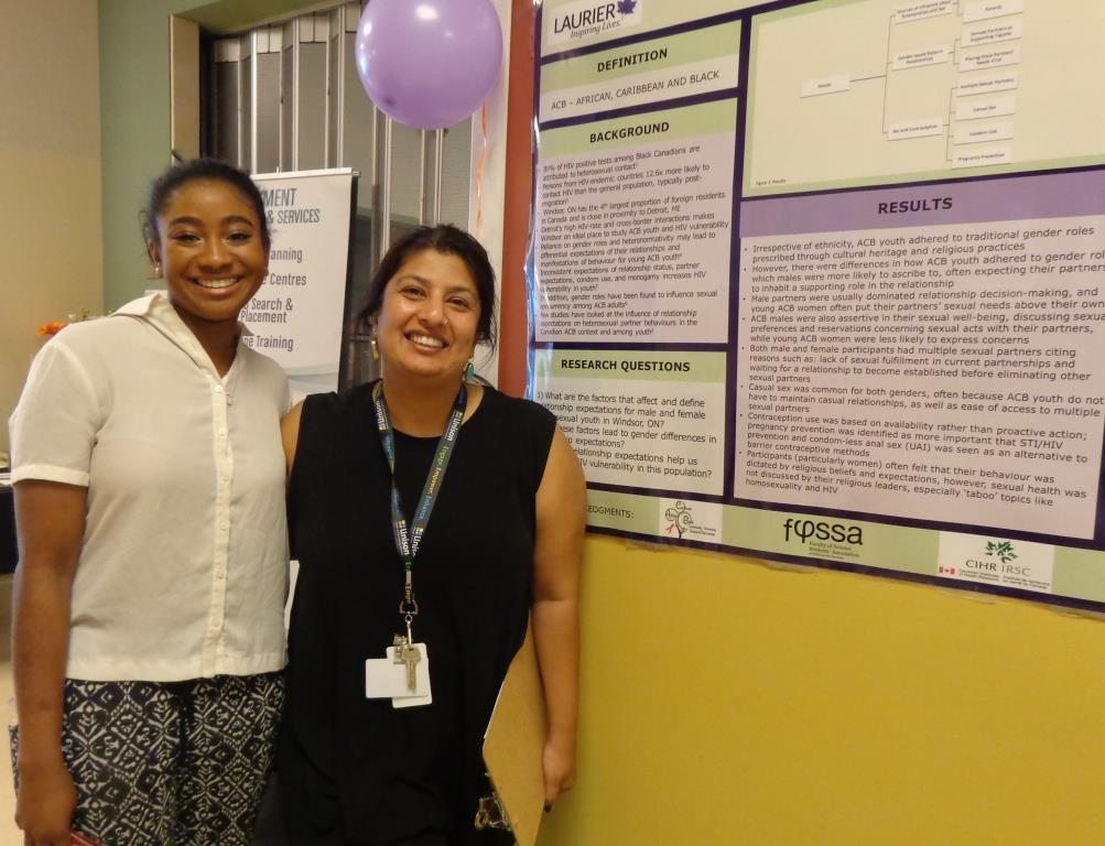 research poster at health and wellness day