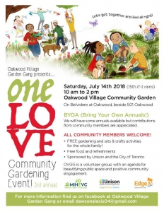 One LOVE Community Event Flyer